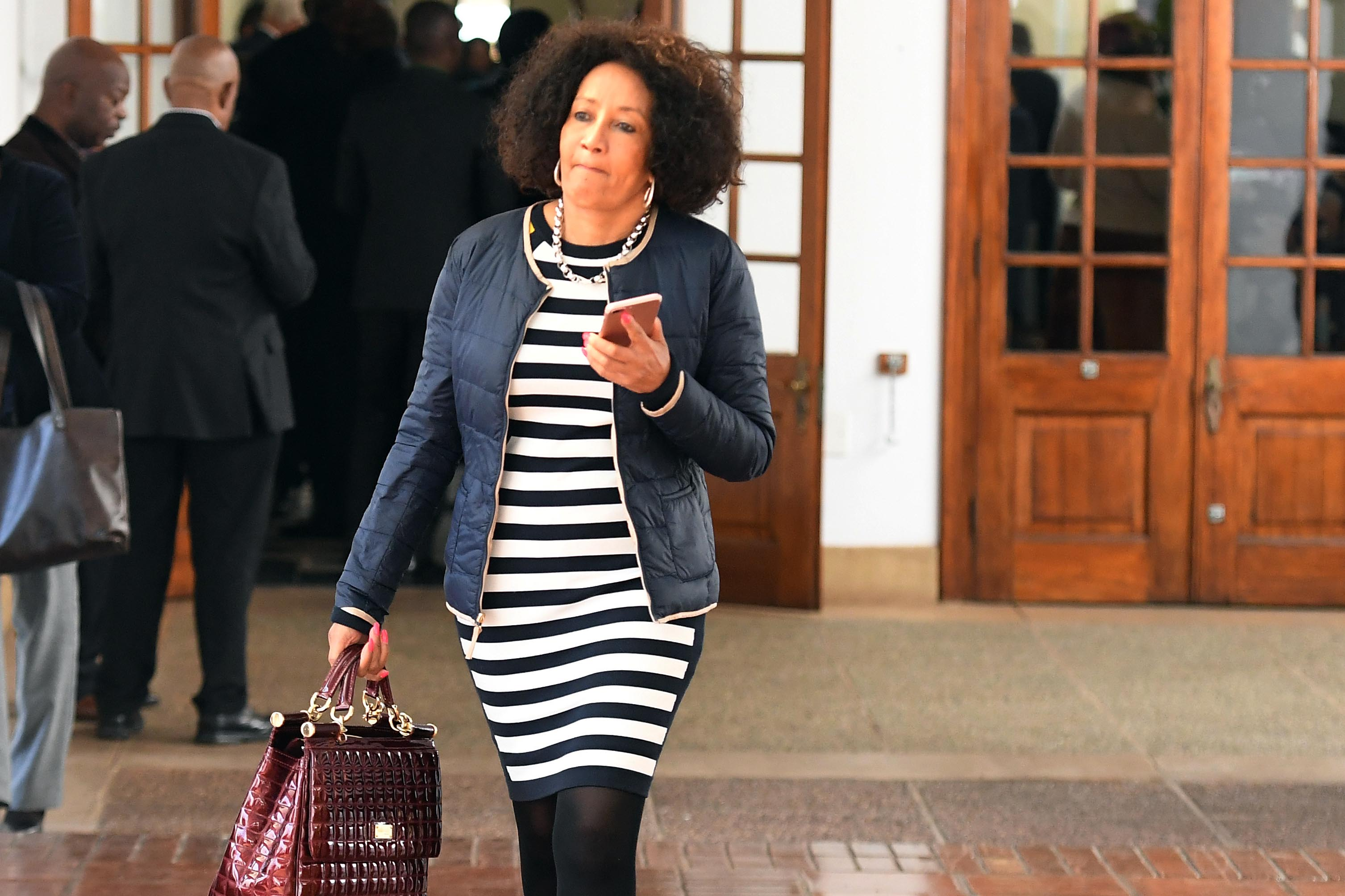 12 Jun 2019: Lindiwe Sisulu during a break in the cabinet lekgotla held at the Sefako Makgatho presidential guesthouse in Pretoria. The lekgotla reviewed government's performance since 1999. (Photograph by Gallo Images/Netwerk24/Felix Dlangamandla)