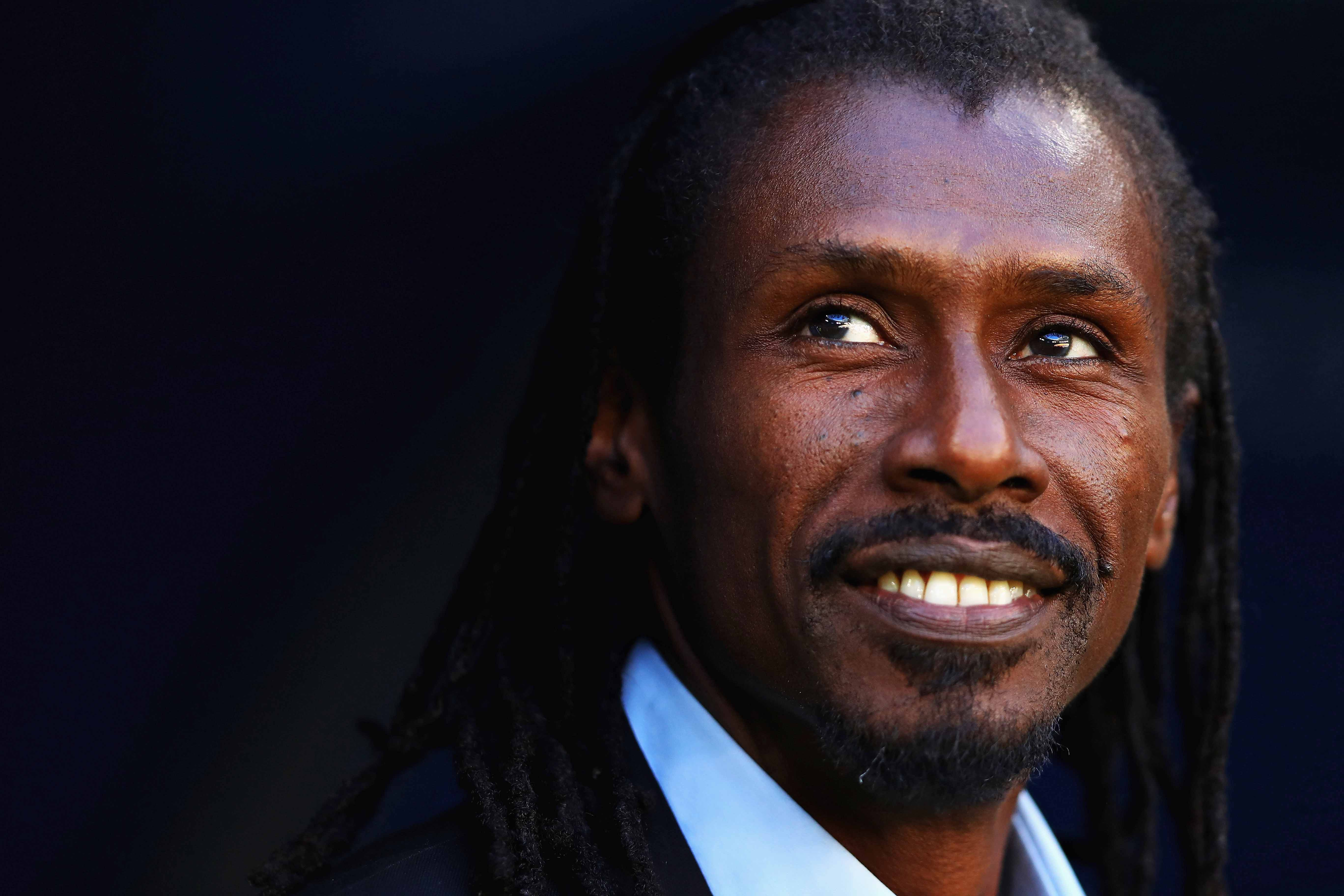 28 June 2018: Senegal coach Aliou Cissé before his team's Fifa World Cup group stage match against Colombia in Samara, Russia. (Photograph by Dean Mouhtaropoulos/Getty Images)