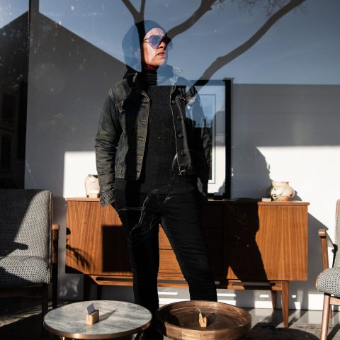 19 June 2019: LGBTQI+ activist, filmmaker, musician, actor and television producer Beverly Ditsie pictured on the streets of Melville.