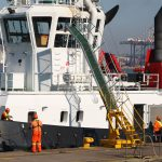 4 June 2019: Transnet employees working on a tug at the Durban Harbour.