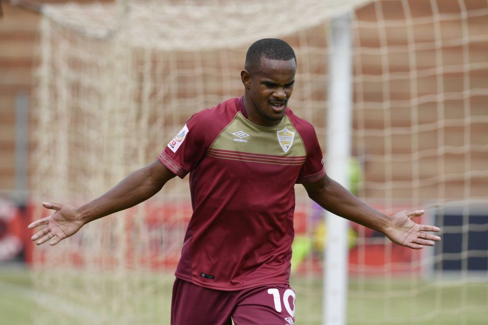 7 April 2019: Iqraam Rayners during a Stellenbosch FC National First Division game against Jomo Cosmos at Makhulong Stadium in Johannesburg, South Africa. (Photograph by Lefty Shivambu/Gallo Images)