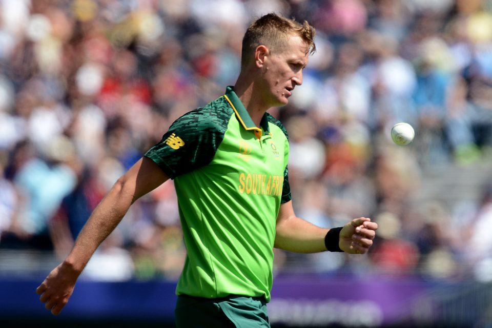 28 June 2019: South Africa's Chris Morris during the Proteas' ICC Cricket World Cup match against Sri Lanka at The Riverside Durham in Chester-le-Street, England. (Photograph by Isuru Sameera Peiris/Gallo Images)