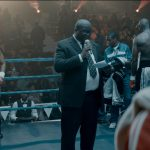 30 July 2019: A fight scene from Knuckle City, directed by Jahmil XT Qubeka, with Bongile Mantsai (left) as 38-year-old boxer Dudu Nyakama. (Photograph supplied by the Durban International Film Festival)