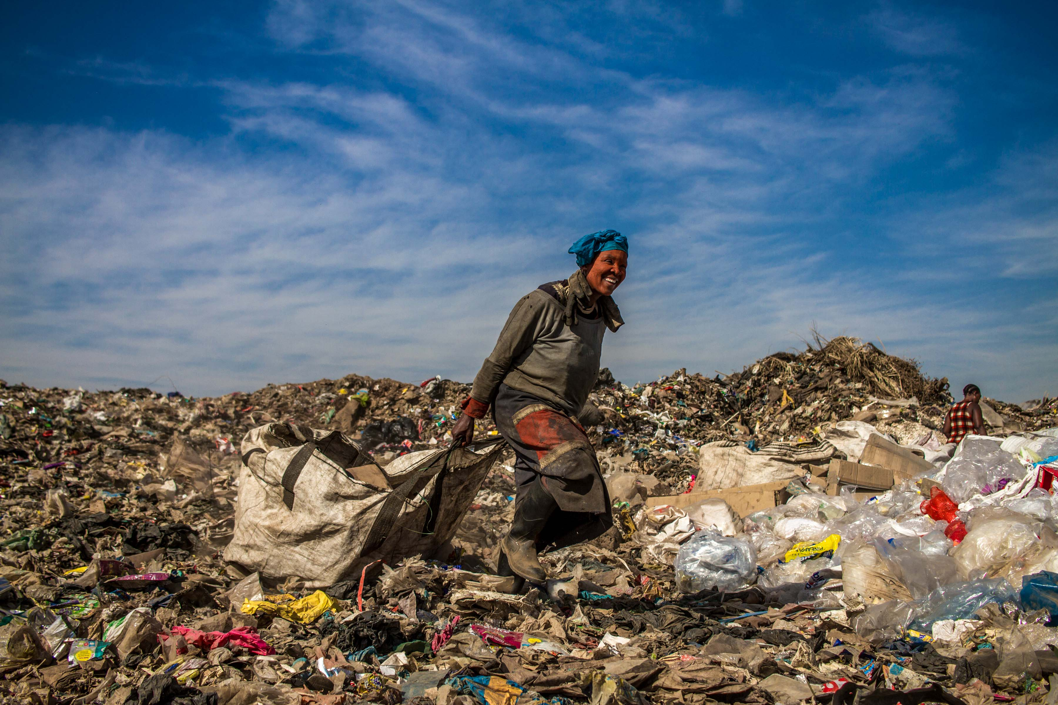 18 July 2019: Lungi Ngubane is 49 and worried that she is getting too old to run and climb on to the trucks, to get more refuse. 'If you cannot run, you are doomed,' she says.