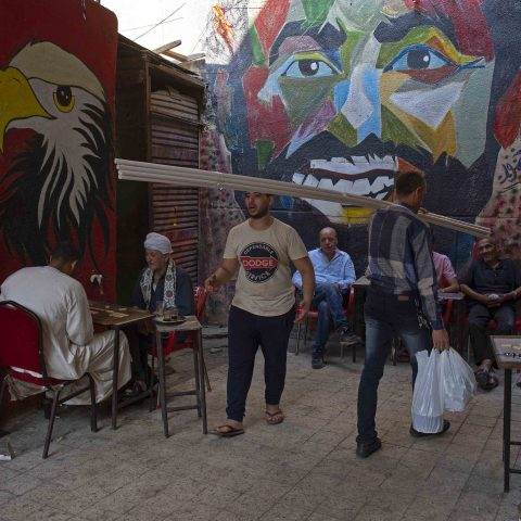 15 June 2019: A mural of Mohamed Salah at Khan El Khalili market in Cairo, Egypt. (Photograph by Visionhaus/Getty Images)