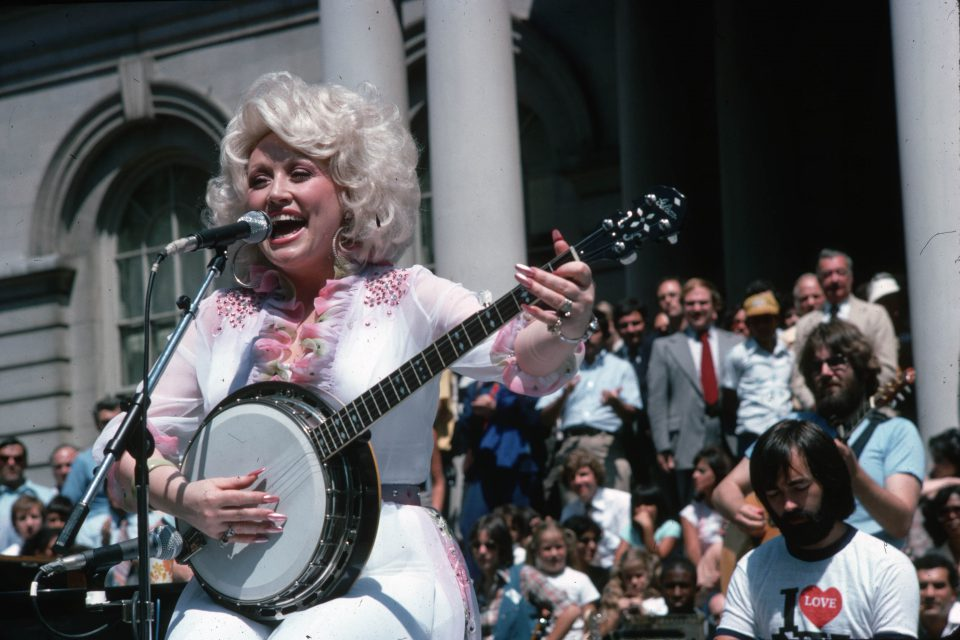 1981: Singer-songwriter and actress Dolly Parton. (Photograph by LGI Stock/Corbis/VCG via Getty Images)