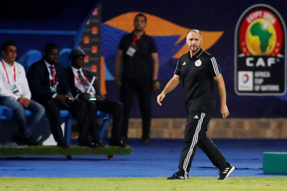 27 June 2019: Algerian coach Djamel Belmadi during his team's Africa Cup of Nations group stage game against Senegal at 30 June Stadium in Cairo, Egypt. (Photograph by Reuters/Amr Abdallah Dalsh)