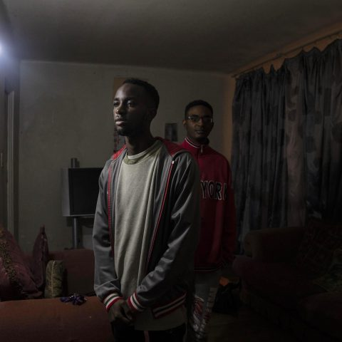 "26 June 2019: Brothers Jonathan and Joseph ""Chris"" Jose were born in South Africa to Angolan parents. They have struggled to obtain identity documents despite being legally entitled to citizenship. (Photograph by Madelene Cronjé)"