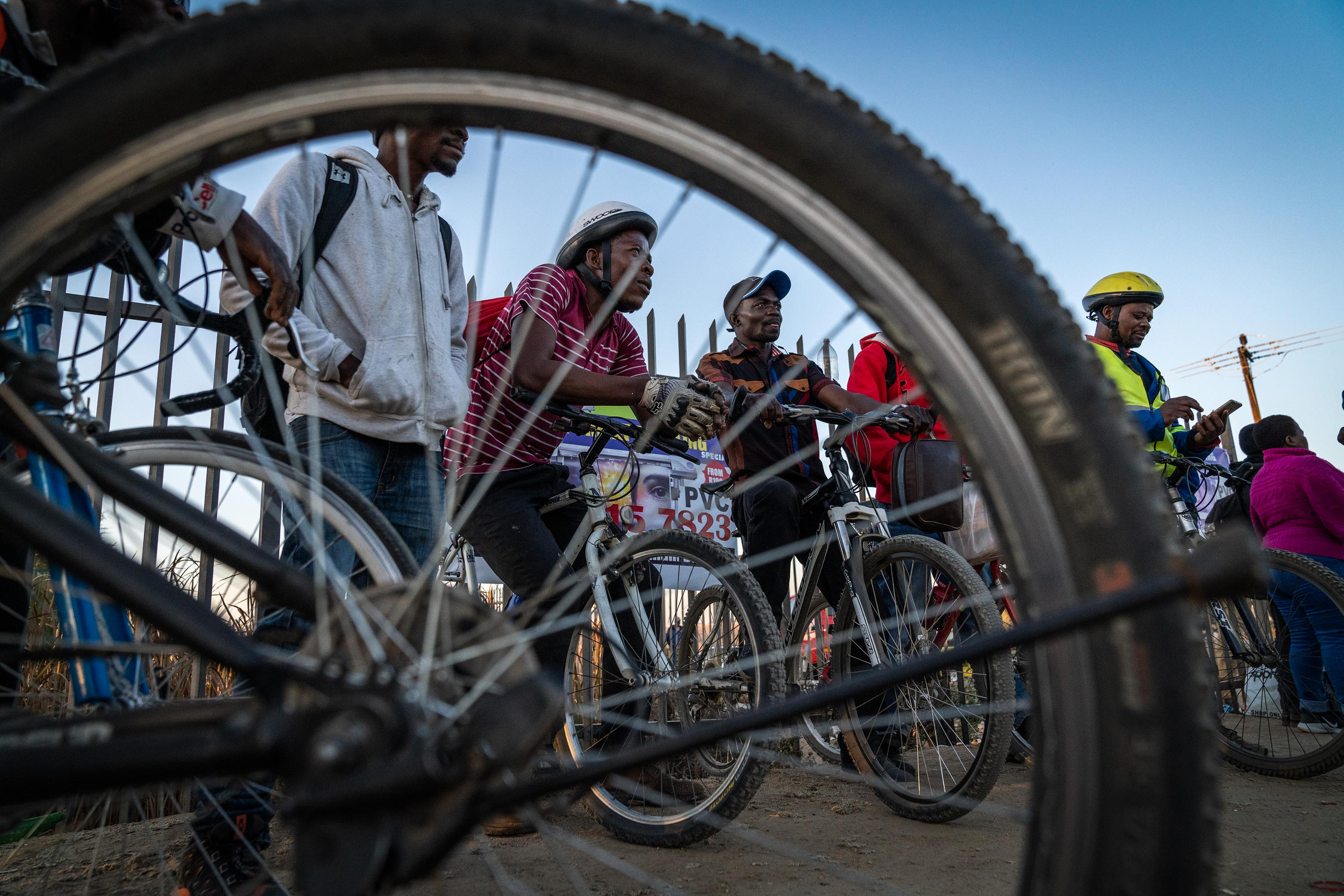 27 June 2019: Cycling to and from work is a common choice made by many workers from Diepsloot who say that they save about R1 500 per month on transport costs.