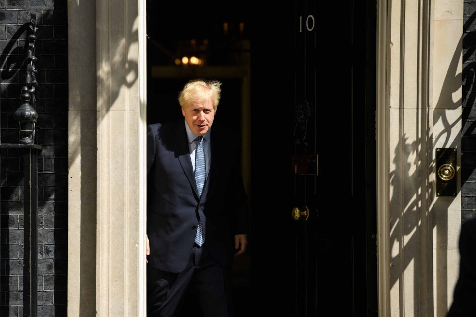 6 August 2019: Britain's Prime Minister Boris Johnson prepares to greet his Estonian counterpart Jüri Ratas (not pictured) at Number 10 Downing Street, before a bilateral meeting. (Photograph by Leon Neal/Getty Images)