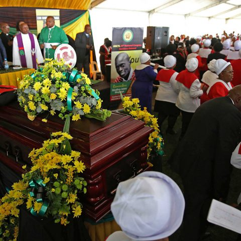 16 September 2017: The funeral service of former ANC Youth League national secretary Sindiso Magaqa in uMzimkhulu, KwaZulu-Natal. Magaqa died in a Durban hospital two months after being shot multiple times. (Photograph by Gallo Images/Sunday Times/Thuli Dlamini)