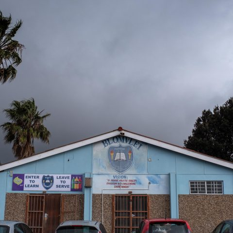 12 August 2019: Teachers and learners at Blomvlei Primary School in Hanover Park, Cape Town, have had to take cover many times in recent weeks to avoid being shot or killed by gang members.