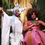 3 August 2019: Performers Winnie Wakanda Washington (left) and ball organiser Treyvone Moo.