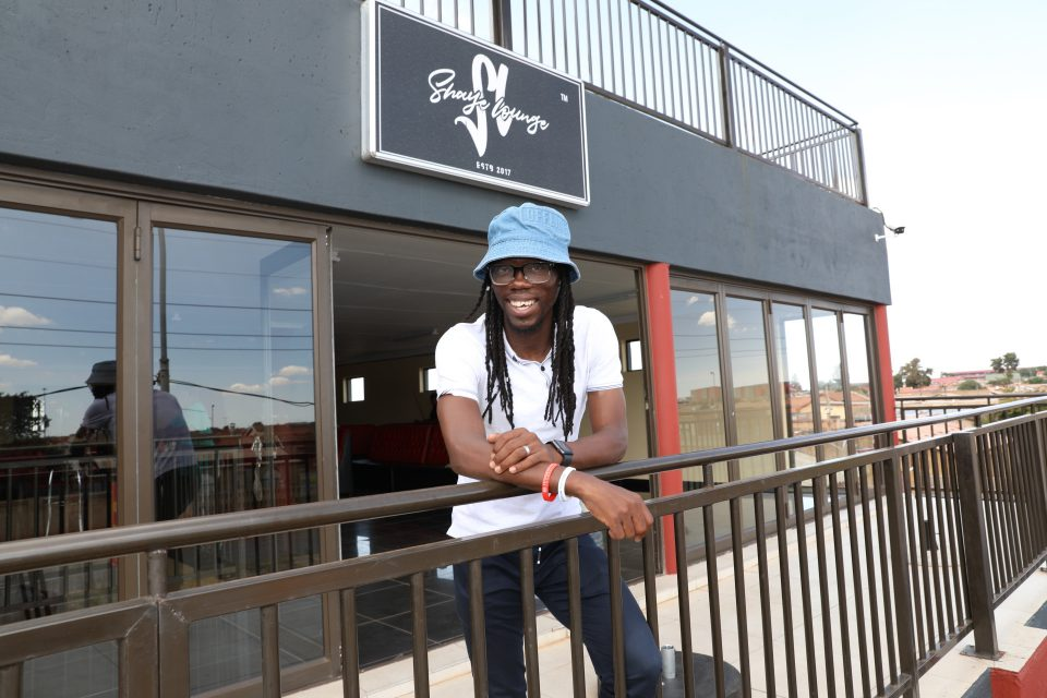 6 April 2019: Reneilwe Letsholonyane at Shaye Lounge in Dobsonville, Soweto. The venue is the brainchild of friends and former Kaizer Chiefs club football players Letsholonyane and Siphiwe Tshabalala. (Photograph by Gallo Images/Sunday World/Veli Nhlapo)