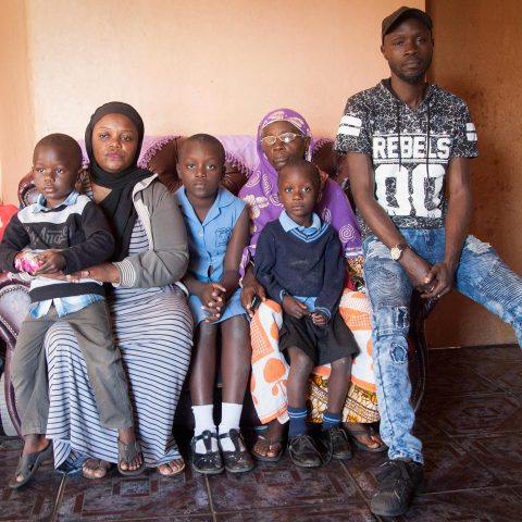 29 July 2019: Amissa Ally at home with her family in Richards Bay, KwaZulu-Natal. Originally from the DRC, Ally and her husband ran a shop selling food at the taxi rank before it was burnt down during an attack on migrants and refugees.