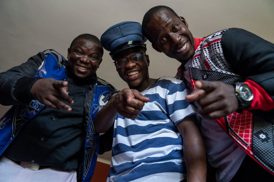 7 August 2019: (From left) The trio of Jacob Shongwe (Gedlembane), Lungelo Gina (Smallz) and Ncamiso Ntshingila (S'lwane) are the most popular comedic act in the Kingdom of eSwatini at the moment.