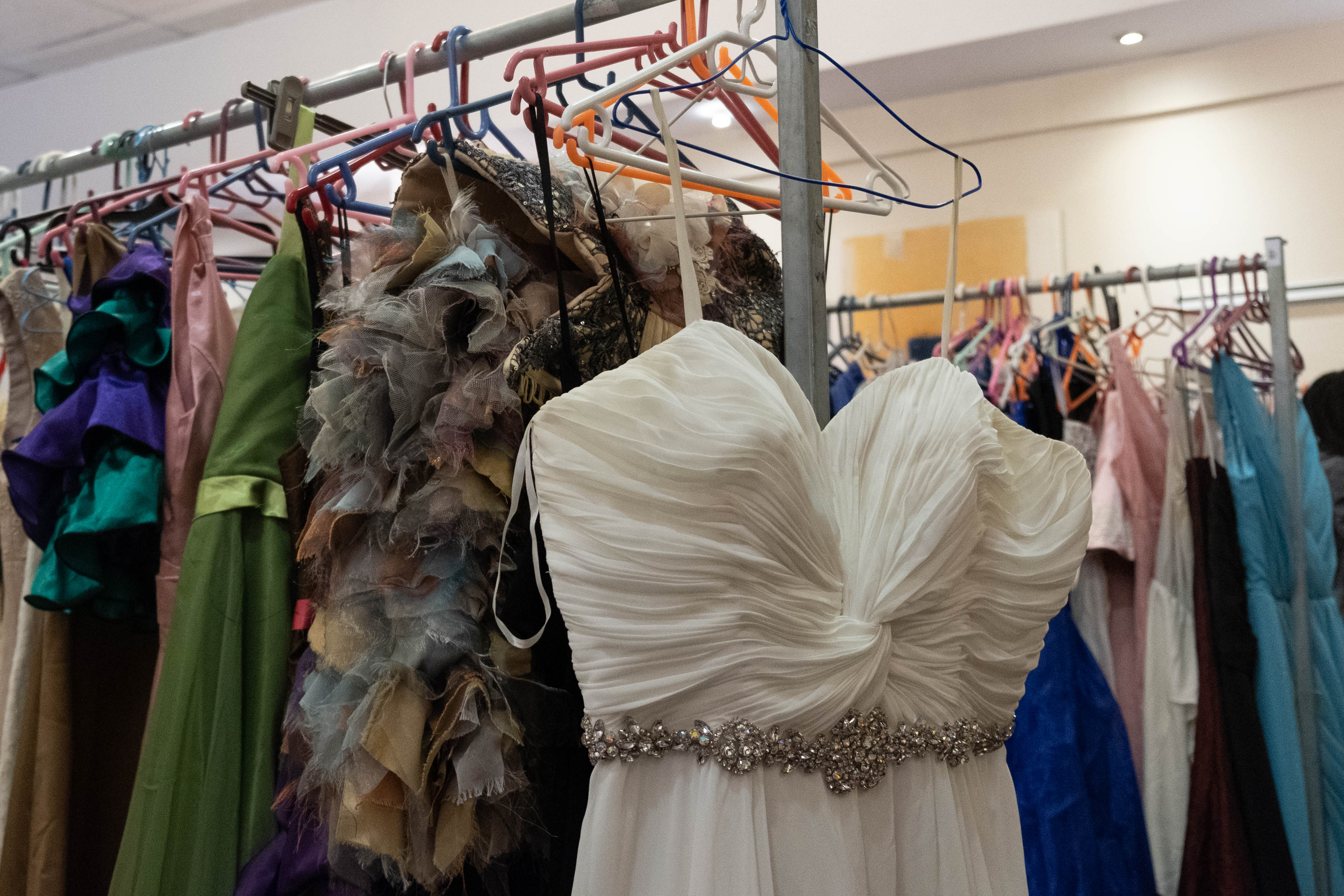 9 August 2019: For some learners, the fitting at The Cherry Blossom Project event is the first time they are trying on any kind of formal wear.