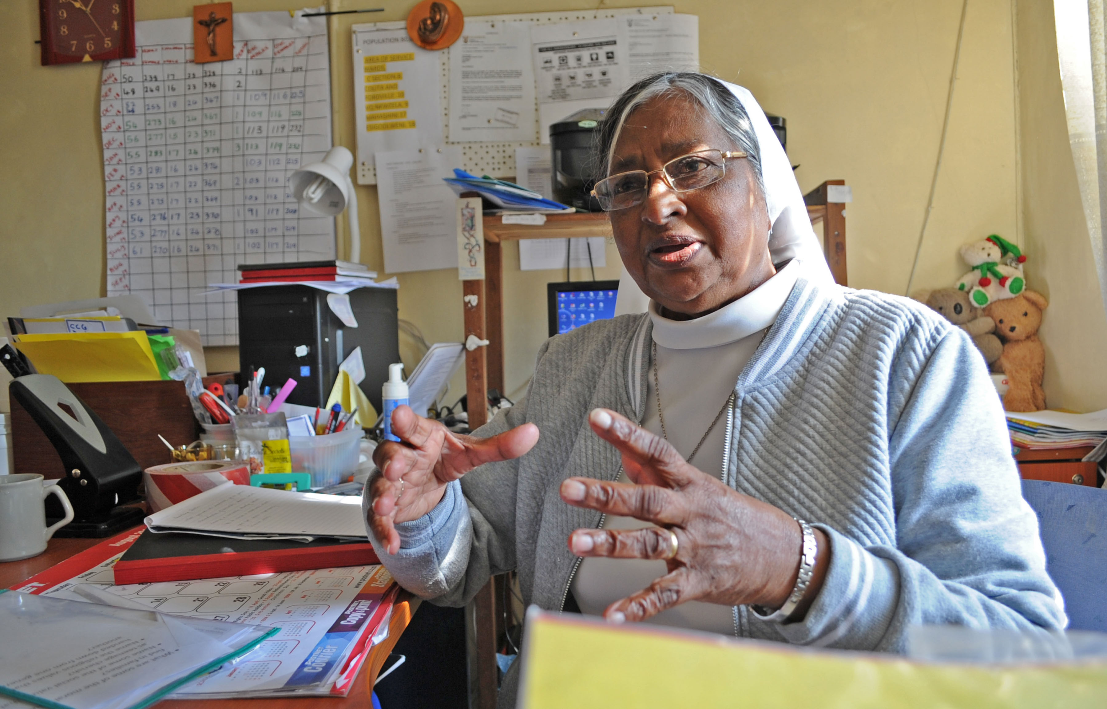 7 August 2019: Sister Maureen Aron feeds more than 40 Estcourt residents each day through the Ithembalethu Outreach Project she runs with other nuns and volunteers.