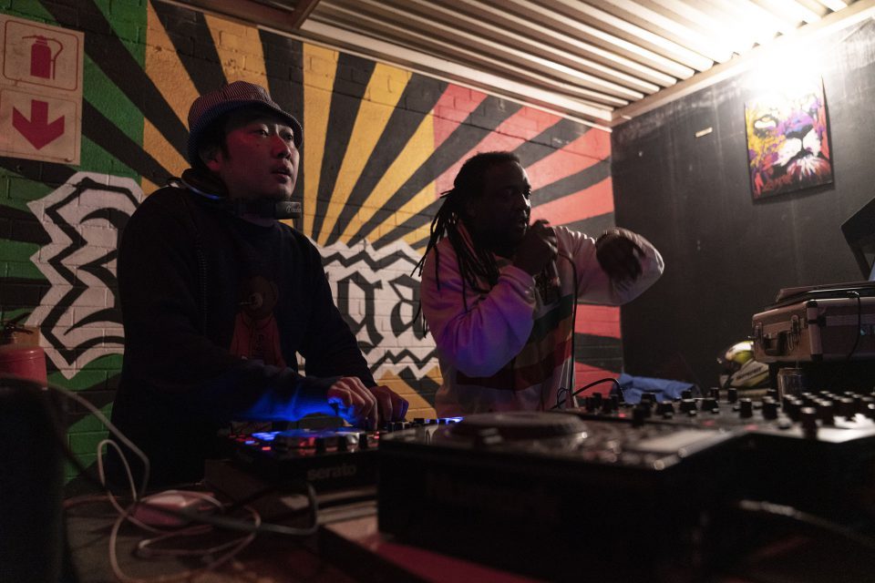 13 July 2019: Jun Morikawa, aka DJ Jun, on the decks spinning his unique style of dancehall reggae at House of Tandoor in Yeoville, Johannesburg.