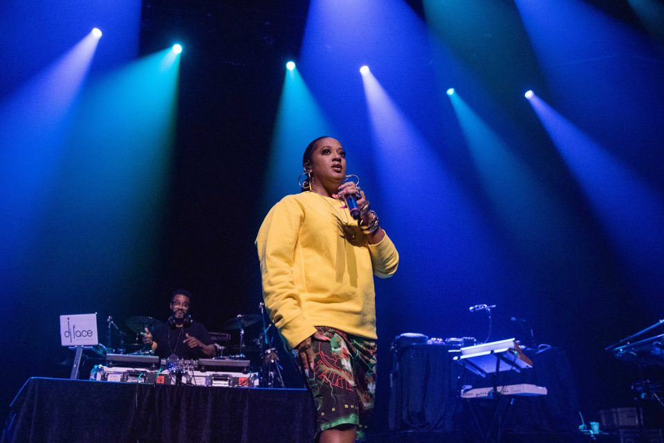 27 August 2019: Rapsody performing during the Let Love Tour at ACL Live in Austin, Texas, in the United States. (Photograph by Rick Kern/WireImage)