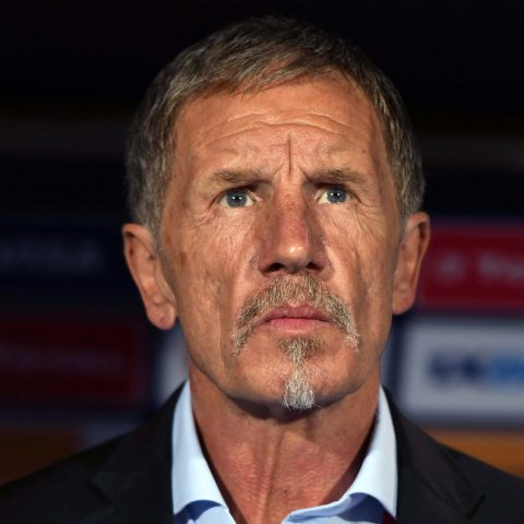 10 July 2019: South African coach Stuart Baxter during the African Cup of Nations quarterfinal between Nigeria and South Africa at Cairo International Stadium. (Photograph by Ahmed Hasan/Gallo Images)