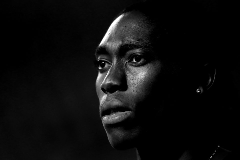 3 May 2019: Caster Semenya before winning the Women's 800m at the IAAF Diamond League event at the Khalifa International Stadium in Doha, Qatar. (Photograph by Francois Nel/Getty Images)