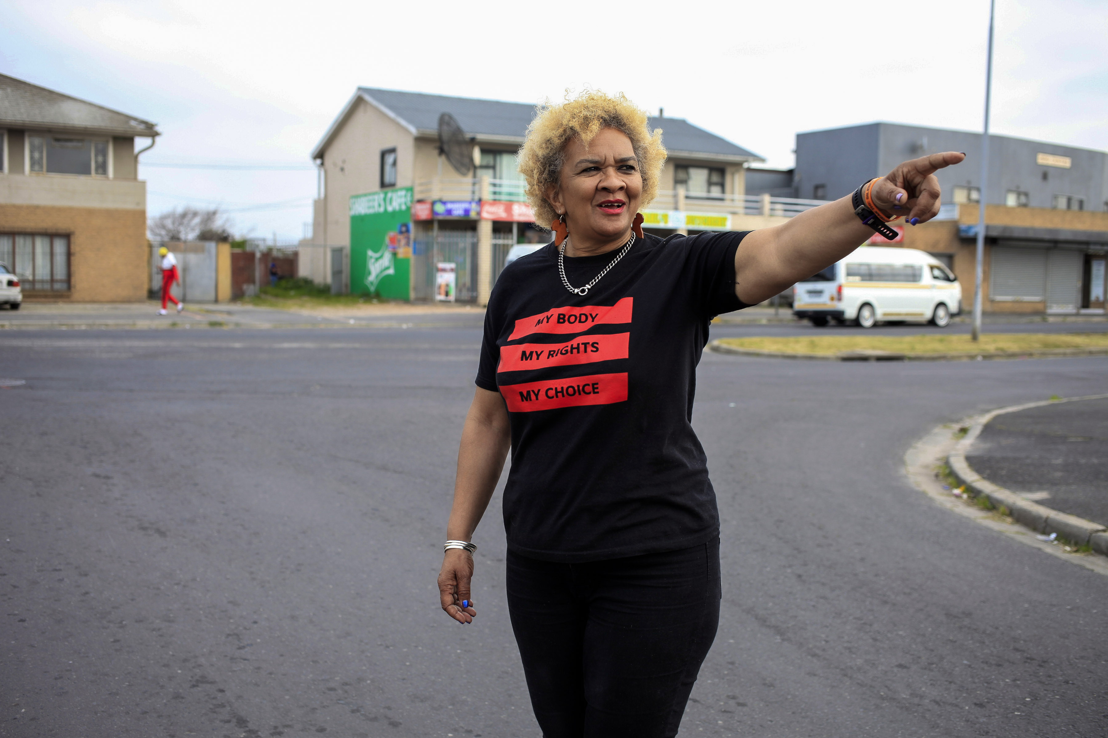 9 September 2019: Caroline Peters walking in Bridgetown, Cape Town. Their area has a rich anti-apartheid history born from the injustice of the regime's Group Areas Act.