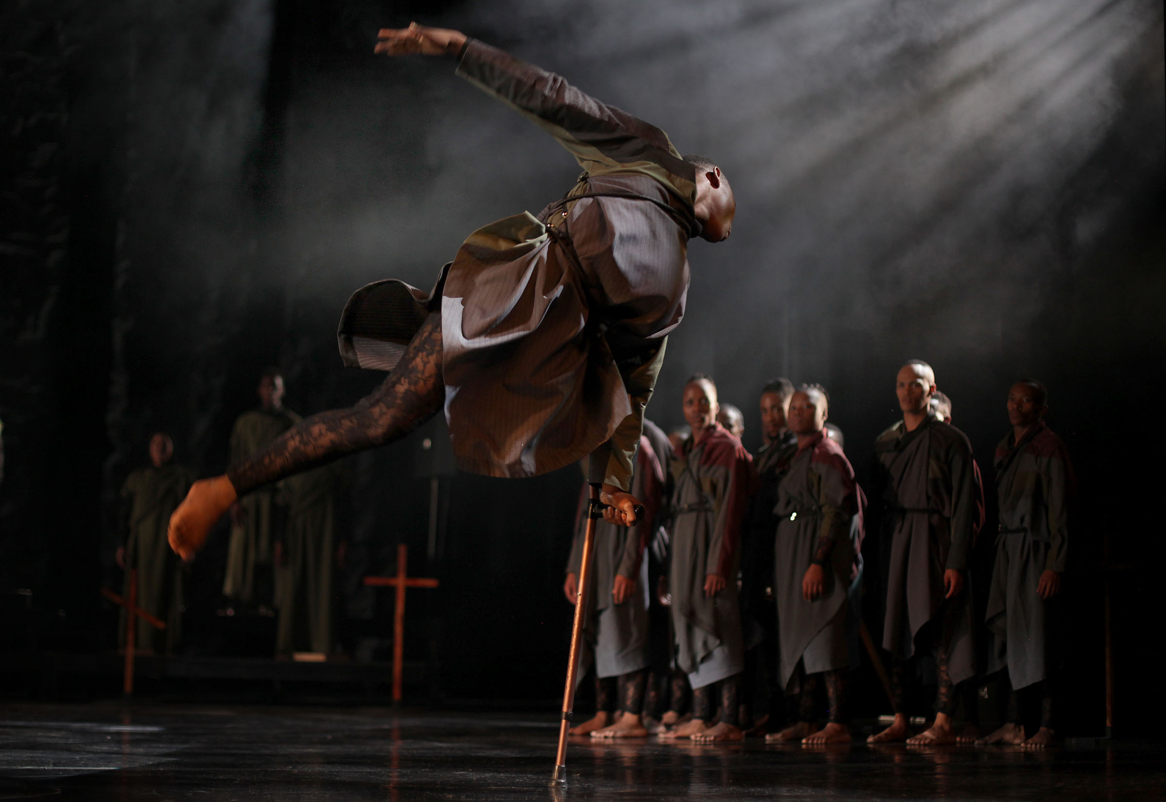 11 September 2019: Director Gregory Maqoma and his contemporary African dance company share an innovative, visually stunning full-length work that brings literature to life. The production has 20 dancers and 16 musicians on stage.