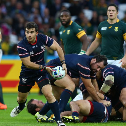 7 October 2015: South Africa-born United States rugby player Niku Kruger during their 2015 Rugby World Cup game against South Africa at the Queen Elizabeth Olympic Park stadium in London, England. (Photograph by Steve Haag/Gallo Images)