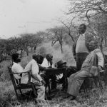 Undated: AWG Champion (standing) and his friend Tom Gwala (sitting in the foreground) were both members of the Industrial and Commercial Workers' Union. (Image courtesy of Unisa archives)