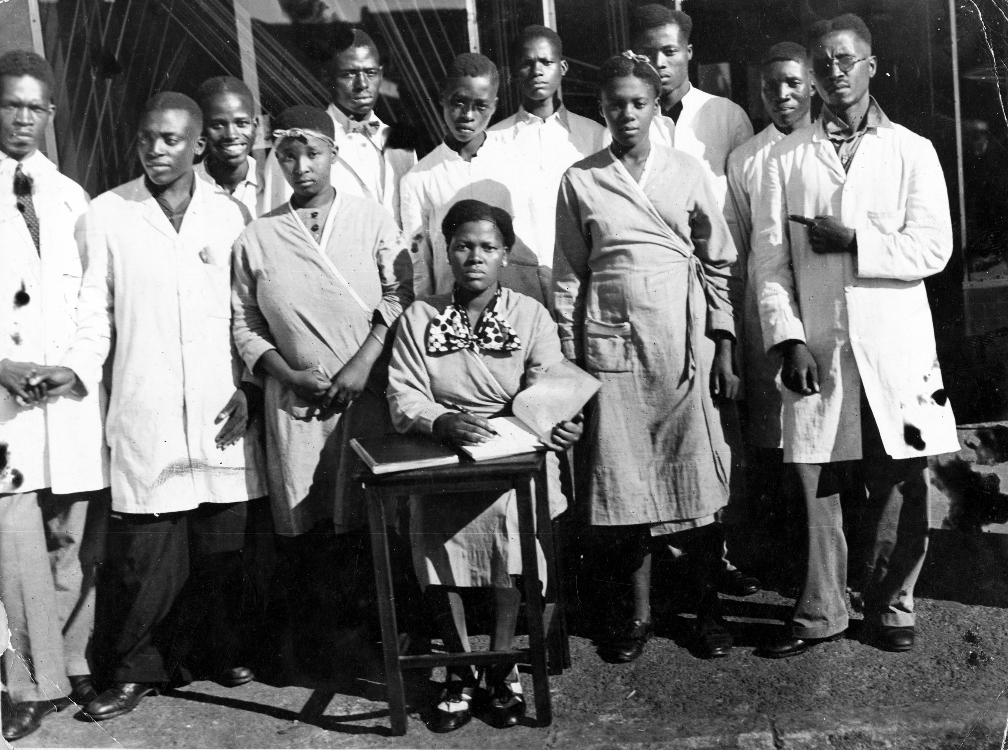 Undated: Members of the Industrial and Commercial Workers' Union staff. (Image courtesy of UNISA archives)