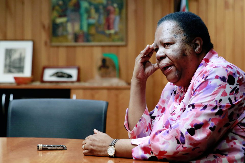 18 May 2019: Department of International Relations and Cooperation Minister Naledi Pandor has blamed the media for painting South Africa and its citizens as xenophobic. (Photograph by Gallo Images/Sunday Times/Sebabatso Mosamo)