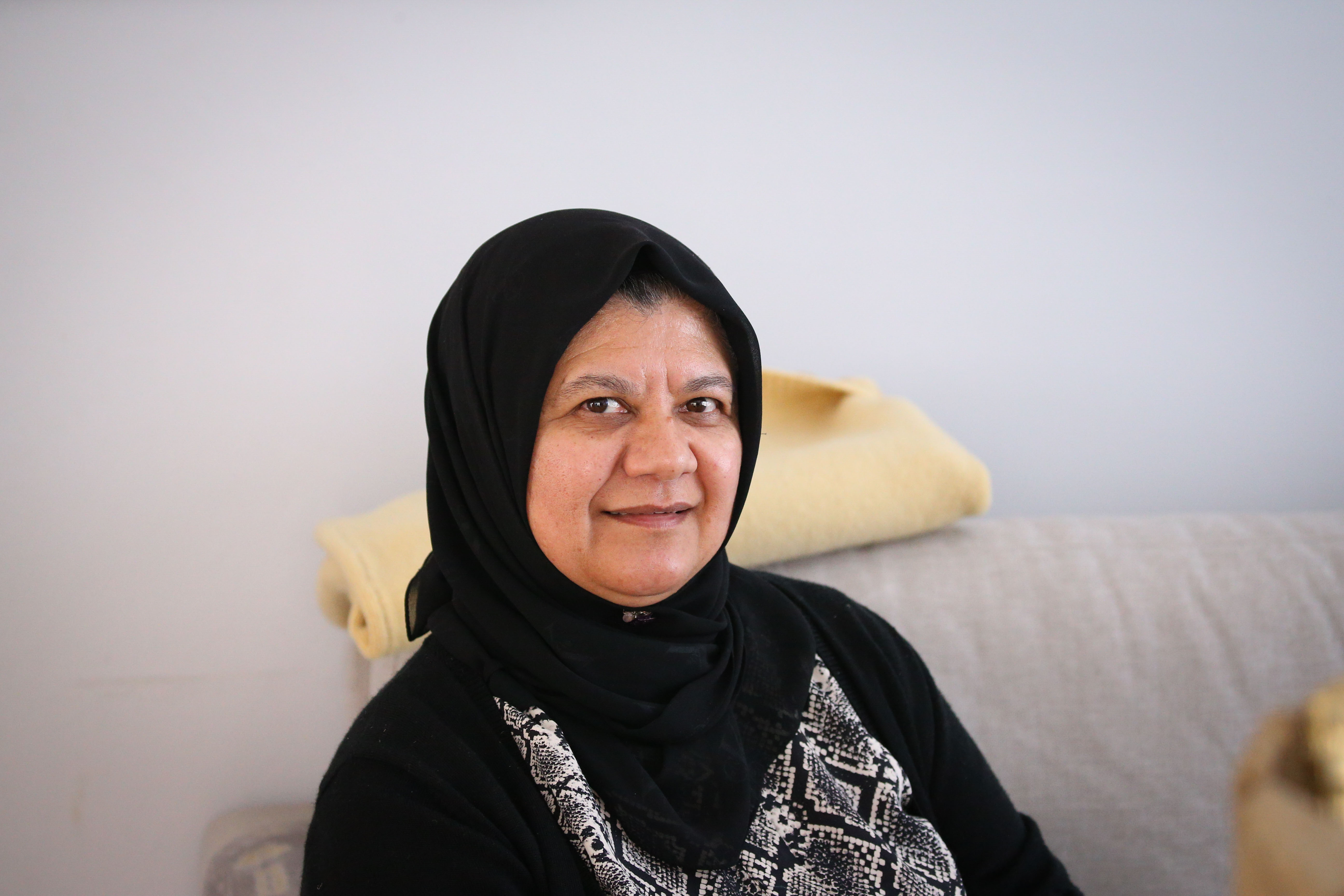 12 September 2019: Fatima Haron-Masoet, Imam Haron's daughter, at the family home in Athlone, Cape Town.