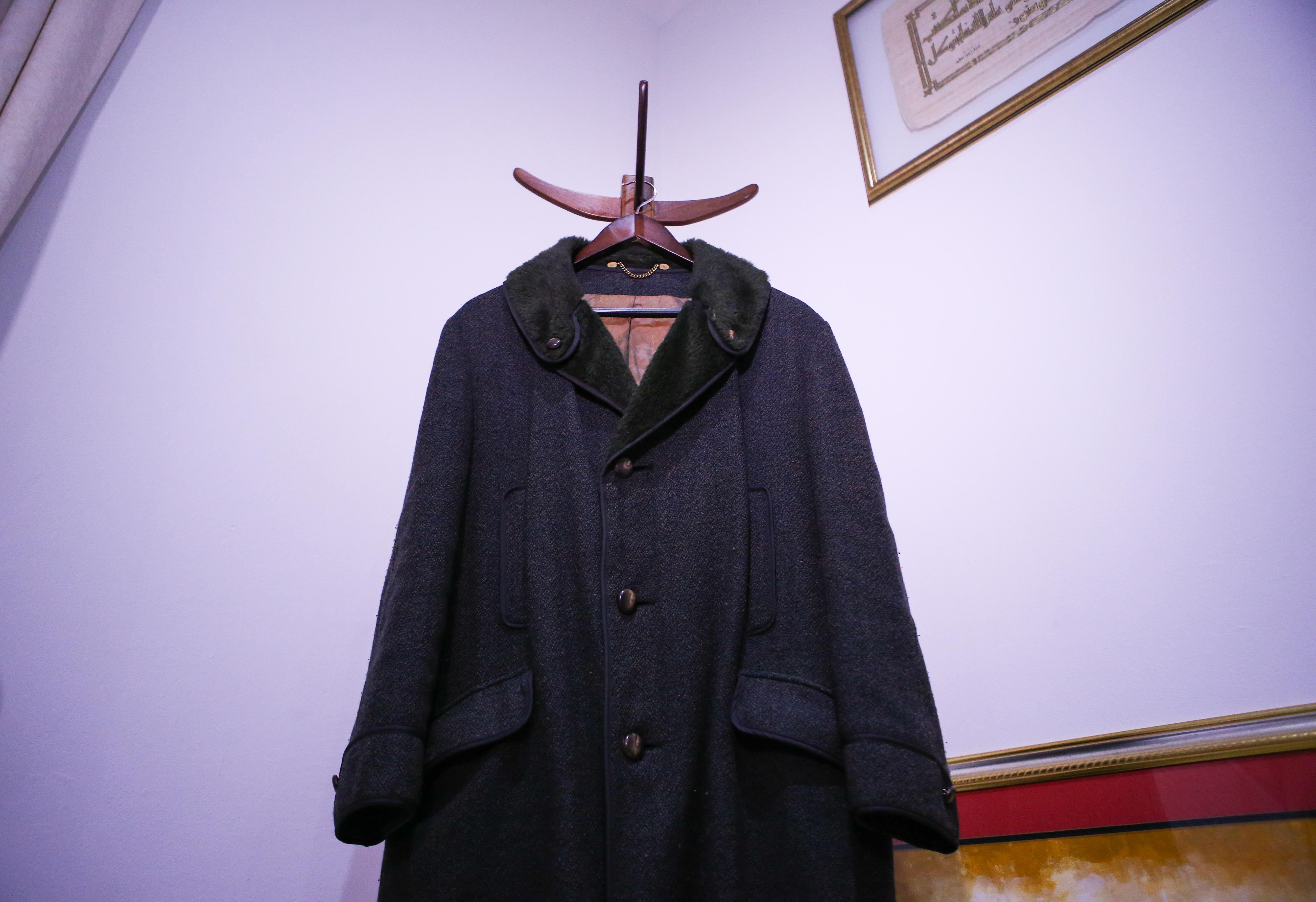 21 September 2019: The coat Imam Haron wore on the morning of 28 May 1969 when he was detained by the Security Branch at Caledon Square Police Station.