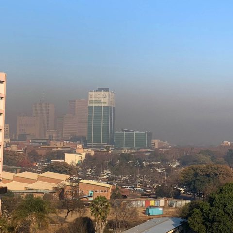30 July 2019: Severe air pollution over the central business district of Tshwane. (Photograph by Caradee Wright)