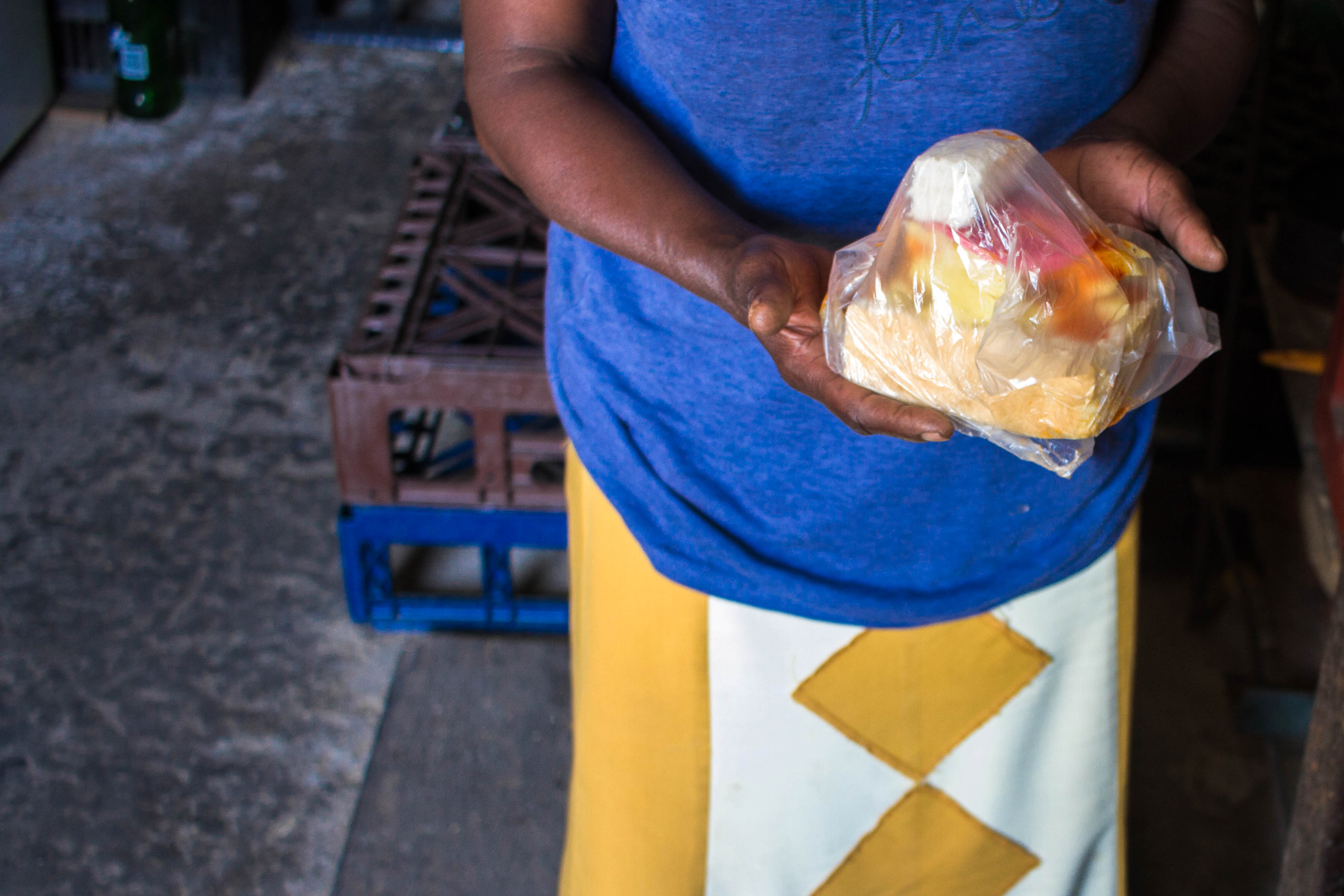 13 September 2019: Pertunia Dlamini makes and sells kota for R10. She earns a little over R700 a month from her fast-food business and buys pre-paid electricity directly from Eskom.