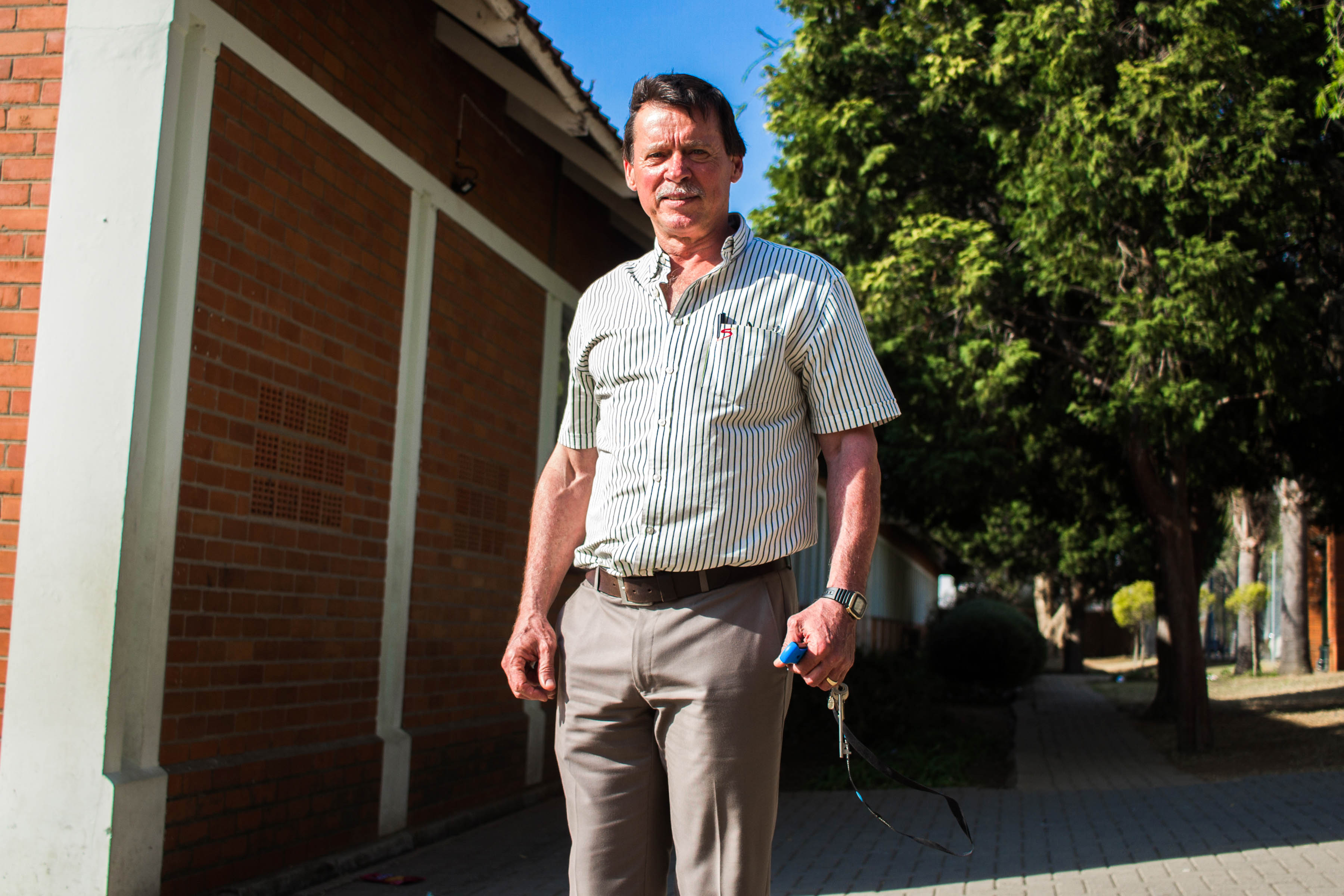13 September 2019: Andre Spies, the principal of Newcastle Senior Primary School, is optimistic about the future of the town but holds a dim view of its management.