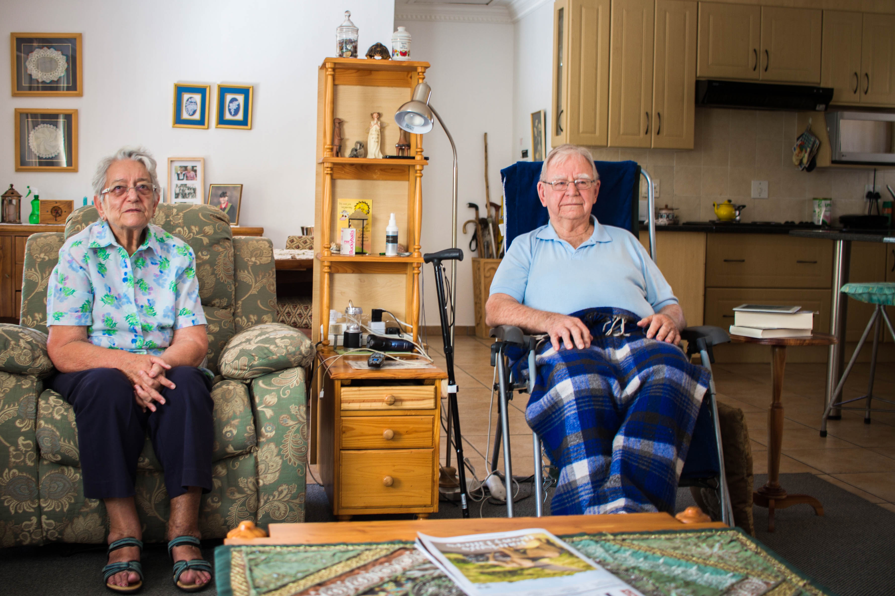 13 September 2019: Mart (left) and Gerard van Beek are pensioners living on a fixed income. They are struggling to afford the rapidly escalating cost of amenities in Newcastle.