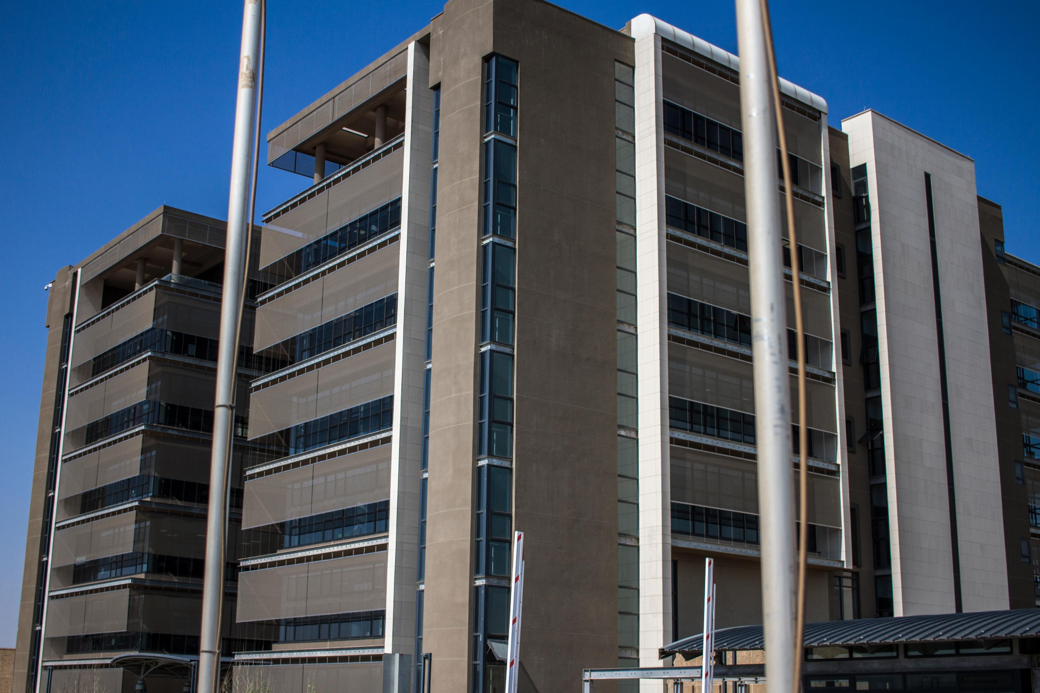 13 September 2019: The controversial building that cost the Newcastle municipality R400 million to build. Residents refer to the seven-storey structure as 'Dubai' and say it was a waste of taxpayers' money.
