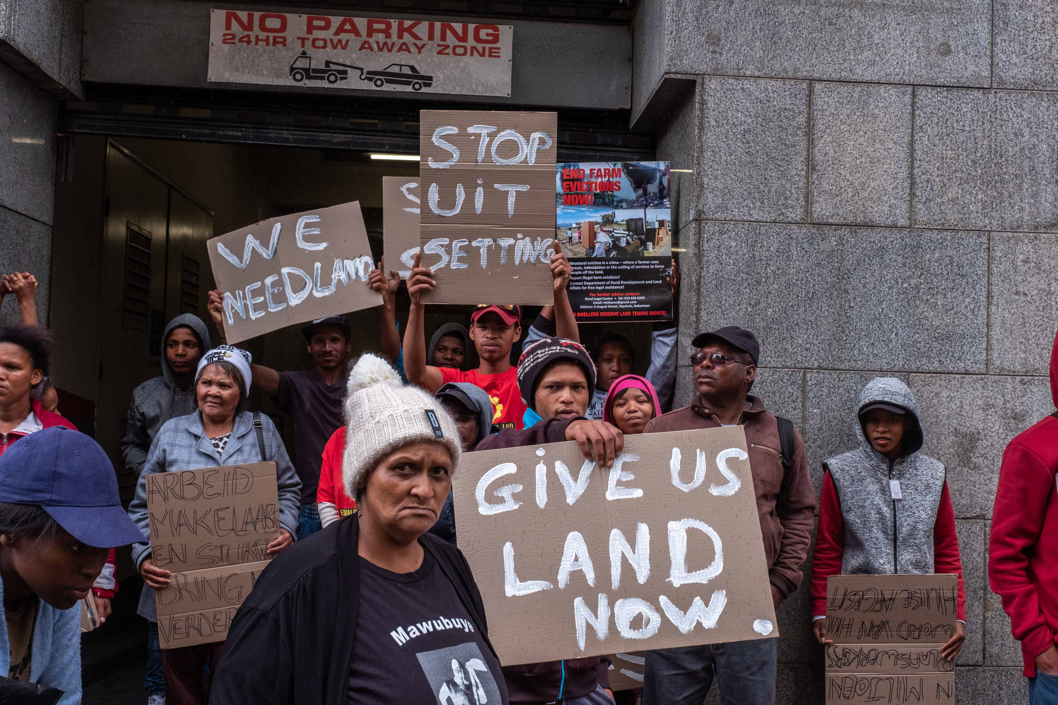 21 September 2019: Land was one of the issues for which union members were campaigning.