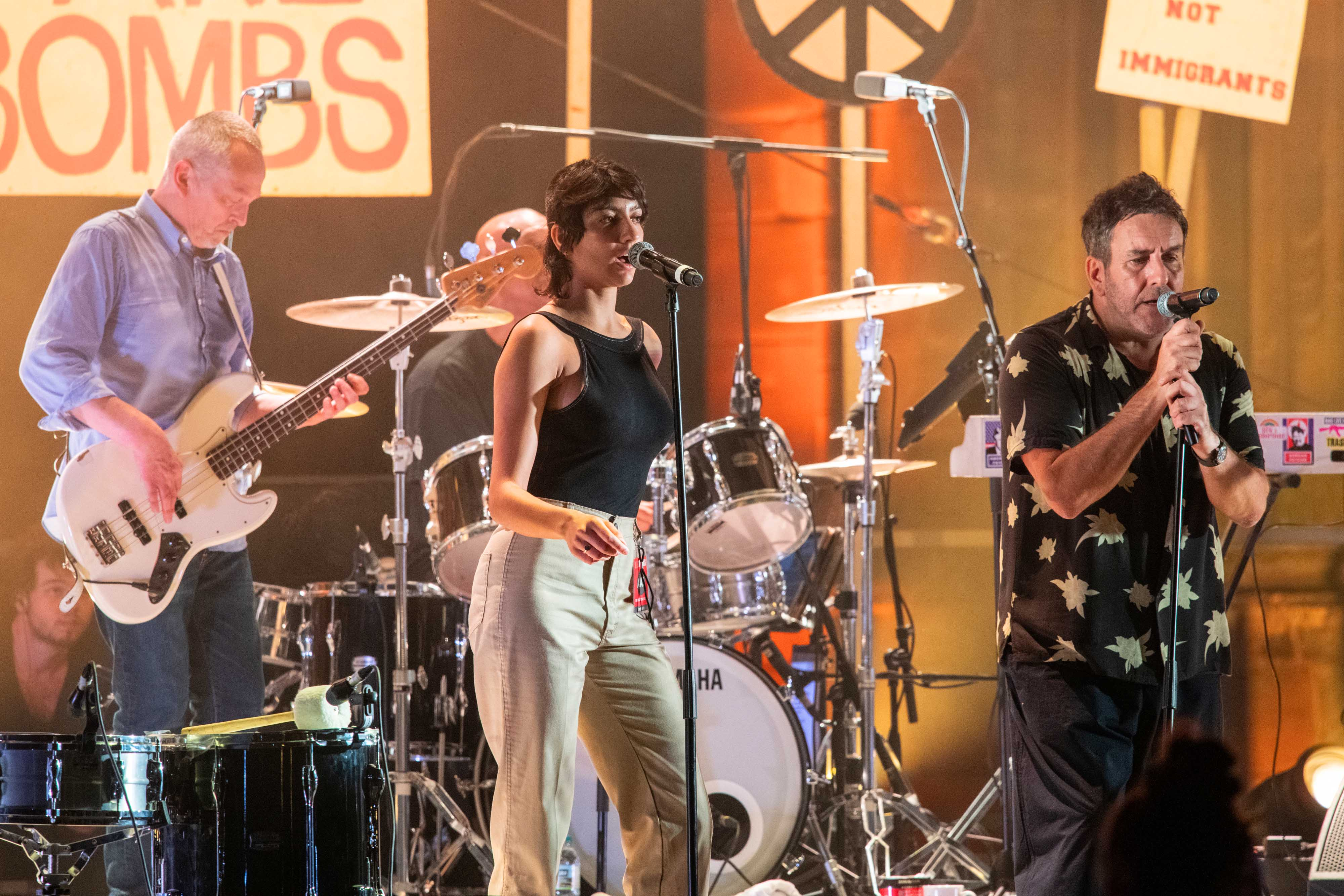 9 July 2019: Saffiyah Khan and The Specials perform live at Coventry Cathedral ruins in Coventry, England, during the band's 40th anniversary tour. (Photograph by Jim Bennett/Getty Images)