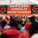 """28 September 2019: For heritage week, Abahlali baseMjondolo hosted an event themed """"Our unity is our weapon of success"""", in Vusumuzi Section, Tembisa. Speakers condemned xenophobia and violence against women and children."""