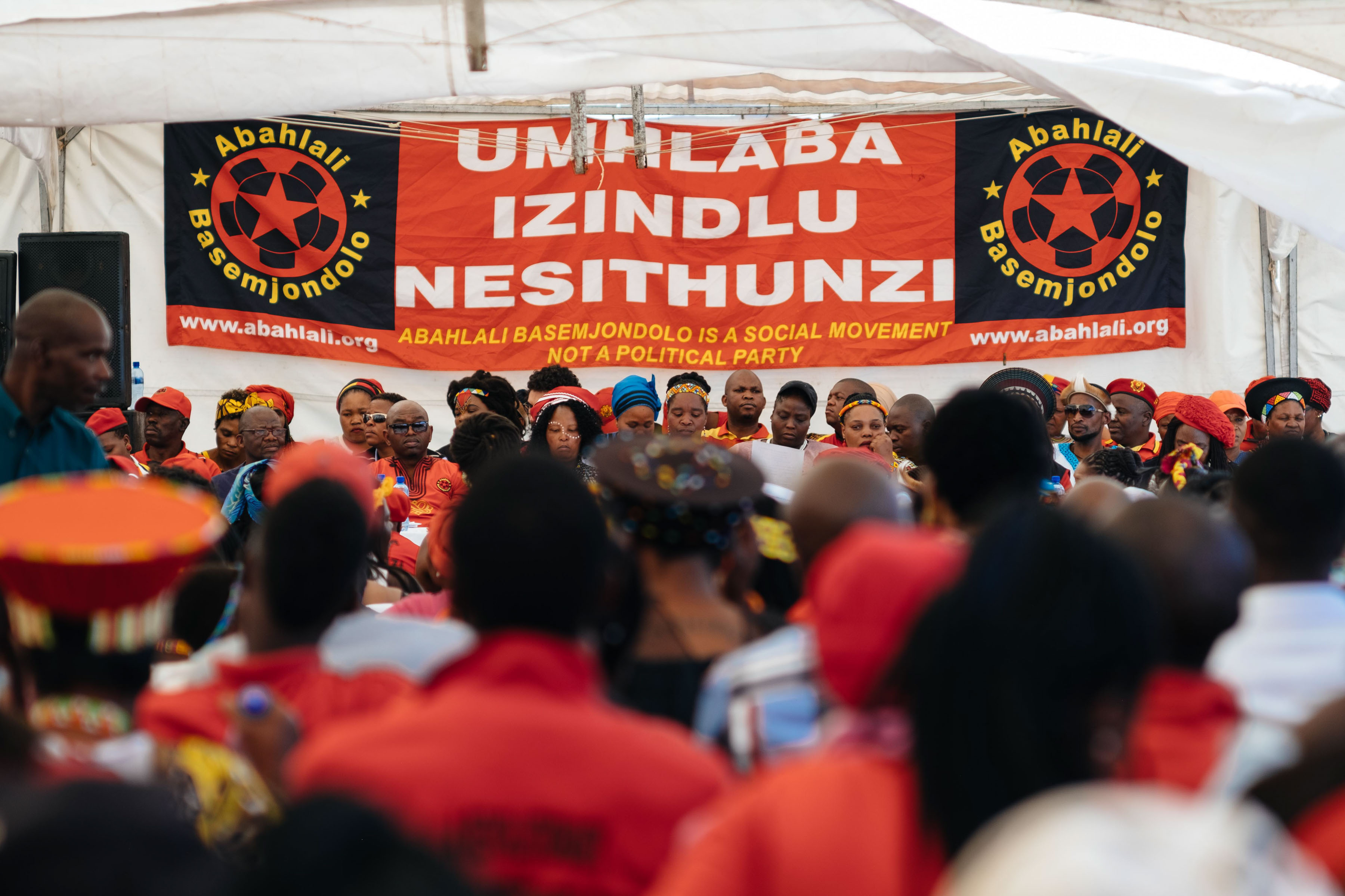 "28 September 2019: For heritage week, Abahlali baseMjondolo hosted an event themed ""Our unity is our weapon of success"", in Vusumuzi Section, Tembisa. Speakers condemned xenophobia and violence against women and children."
