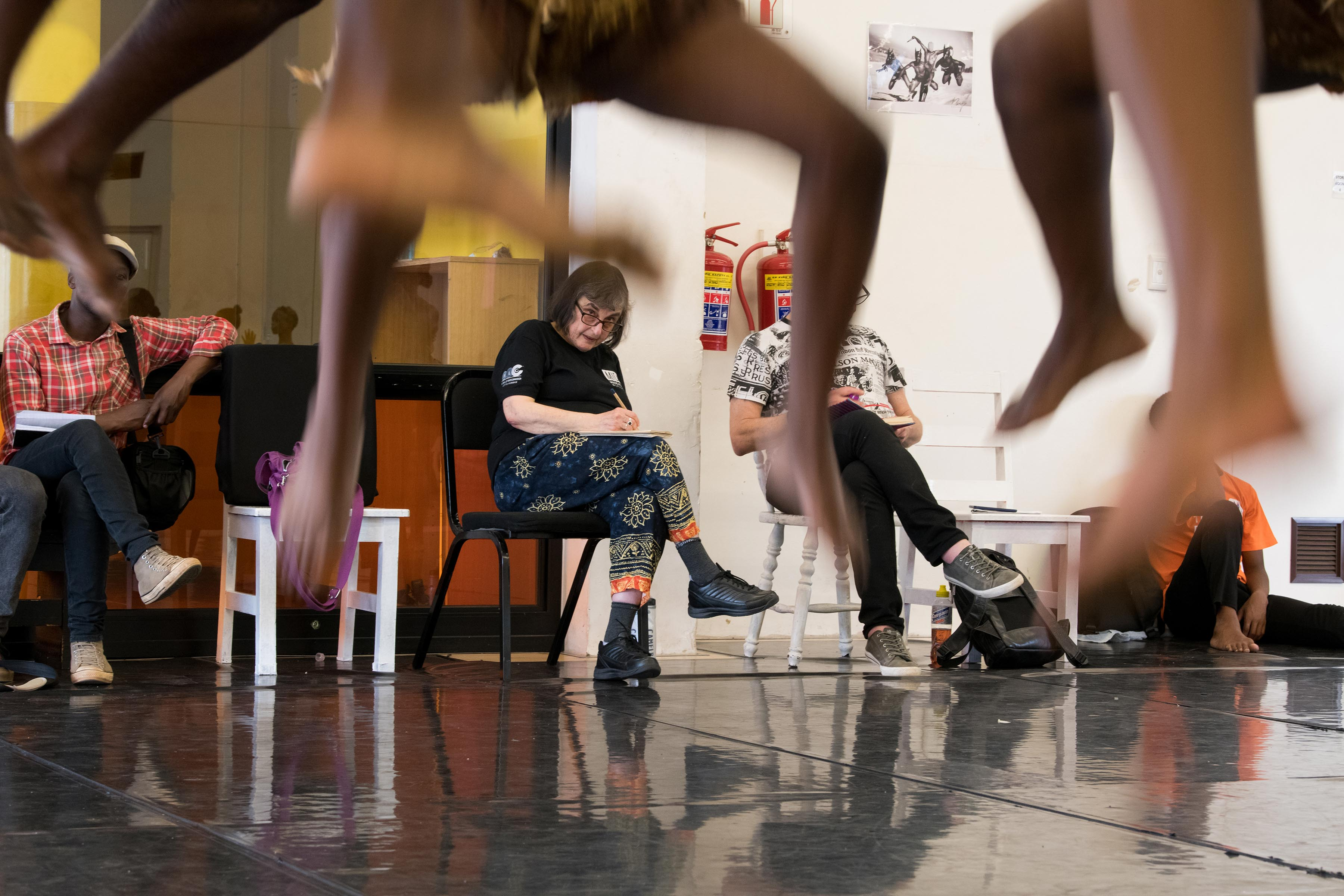 18 September 2019: Sylvia Glasser taking notes in a Moving into Dance dress rehearsal of the iconic work Tranceformations performed last week at the Market Theatre.