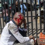 2 September 2019: A South African street trader who makes a living selling cosmetics on the sidewalk was beaten bloody by a large xenophobic mob who rampaged through Joburg's inner city, looting and attacking stores and street traders along the way.