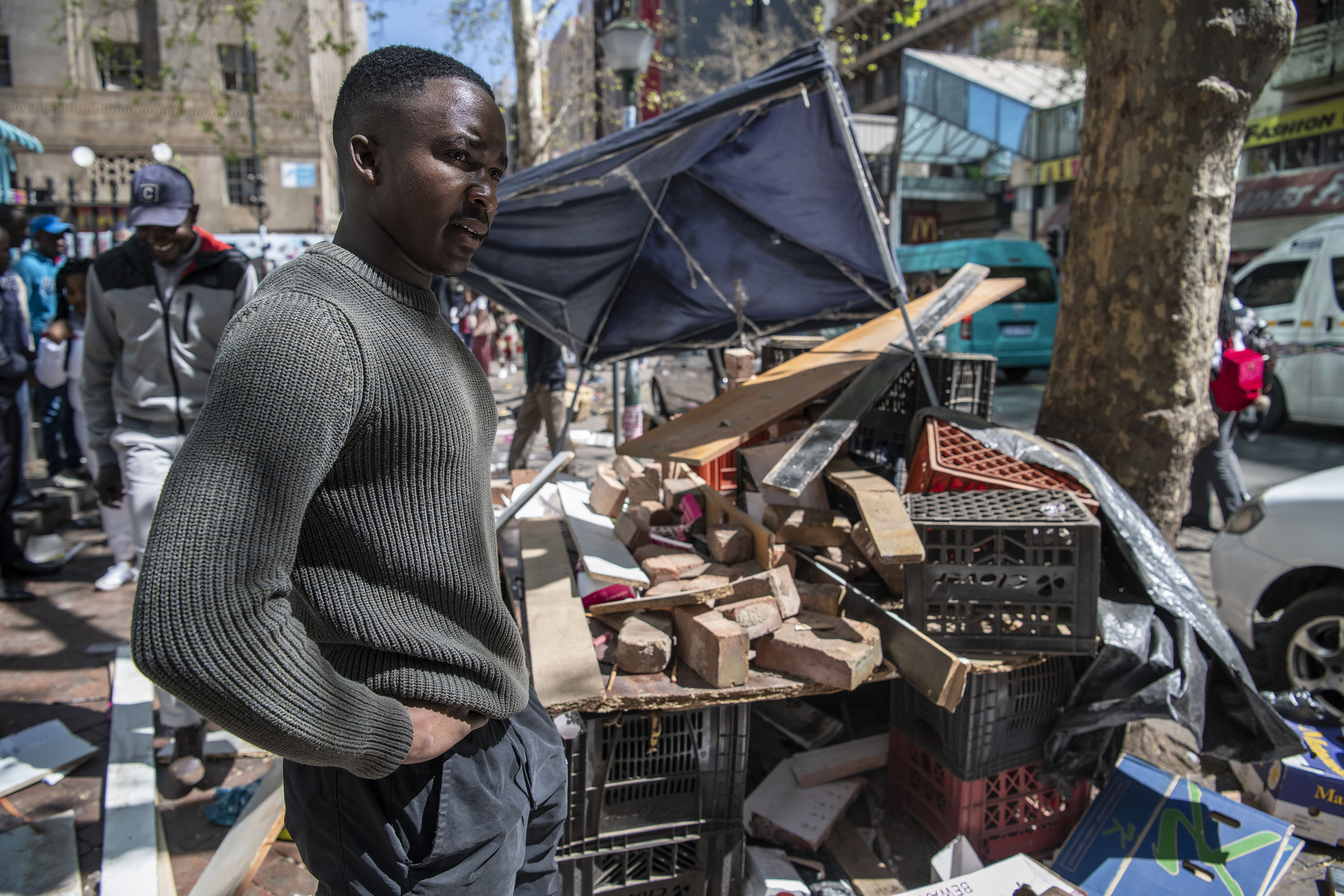 2 September 2019: Gift Ngema, a South African from Soweto, was left in shock after the mob attacked his street stall where he sold cosmetics, looting all his goods and stealing his personal belongings.