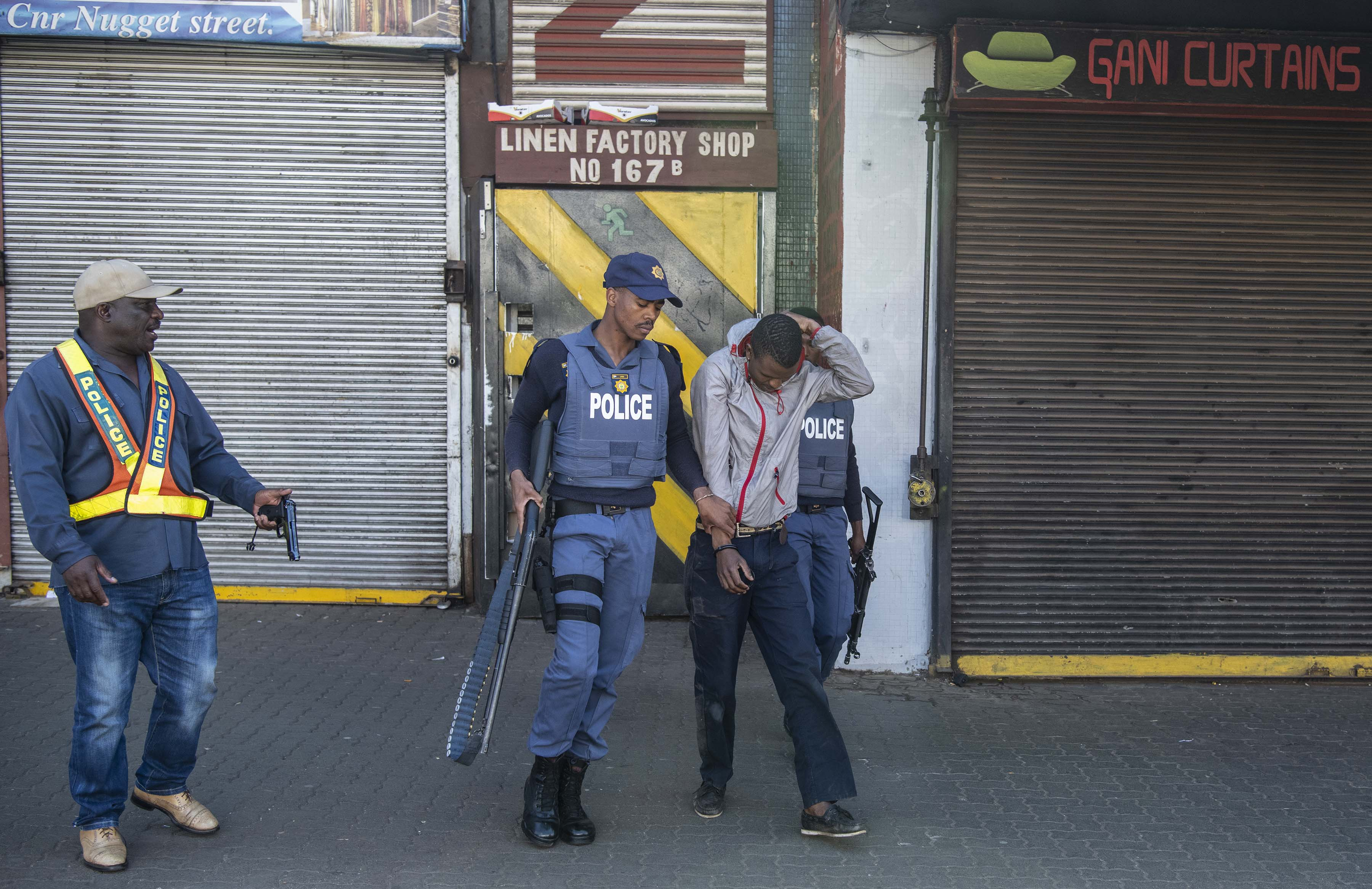 2 September 2019: The police making an arrest after the rampage.