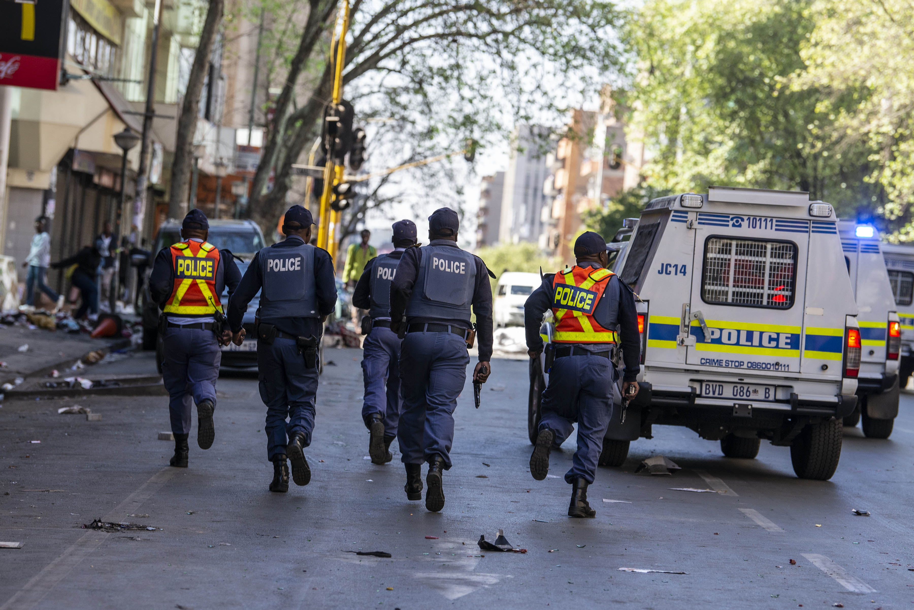 2 September 2019: The police were vastly outnumbered and ill-prepared for the mob of people who ran riot through Joburg's central business district.