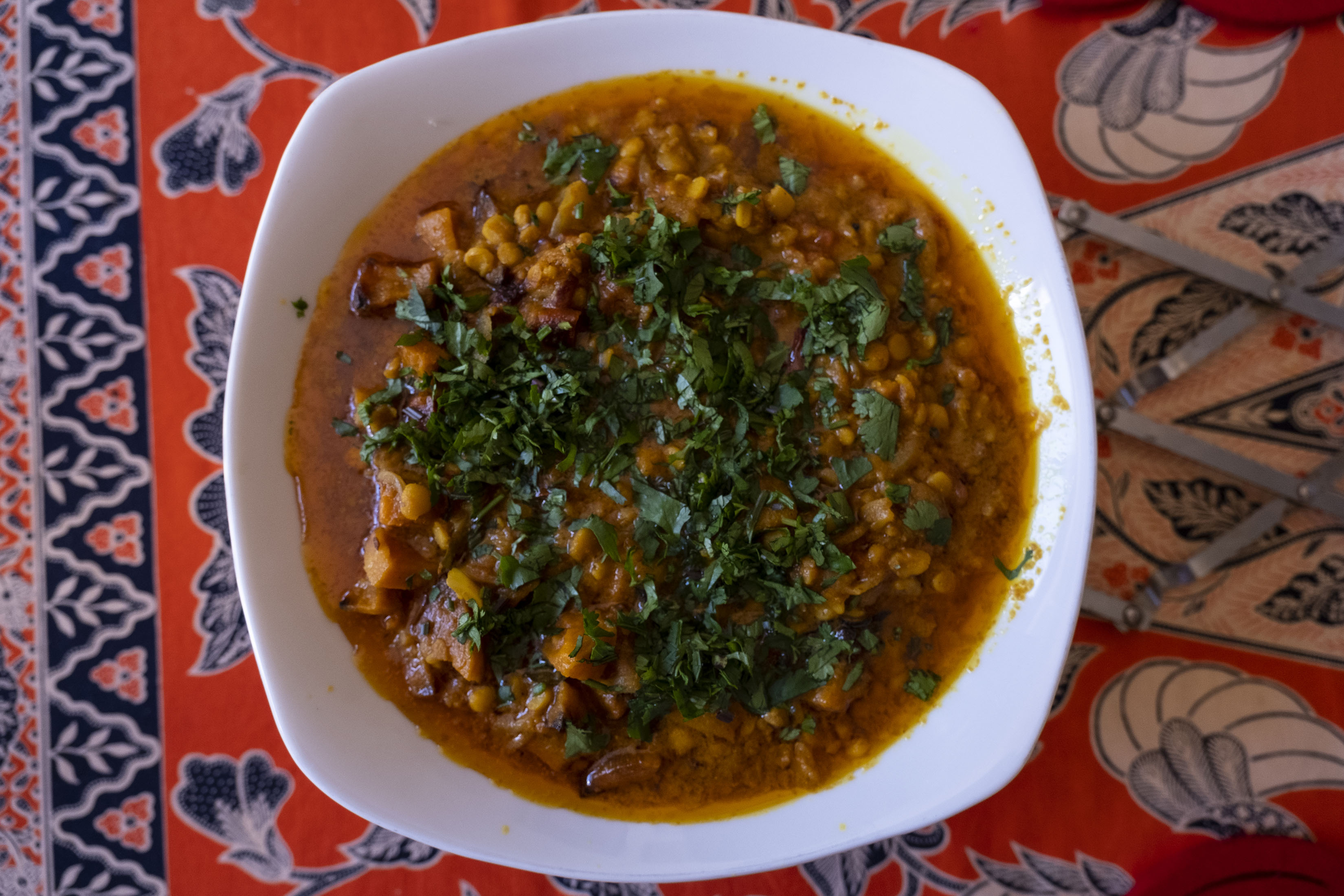 3 September 2019: Lentil curry made with 3 different lentils.