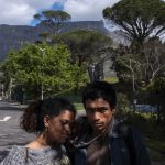28 August 2019: Carin Gelderbloem and Rameez Kemp in Gardens, Cape Town, at the spot where they used to sleep before City of Cape Town security officials forced them out and confiscated their shelter and belongings.
